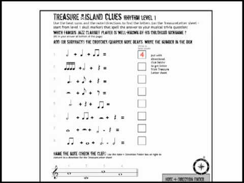 Music Theory Fun Sheets Treasure Island Games Youtube