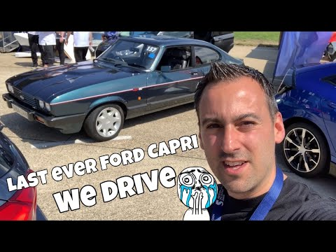 I drive the Last Ford Capri to roll of the production line at Ford  -1987 Ford Capri 280 Brooklands