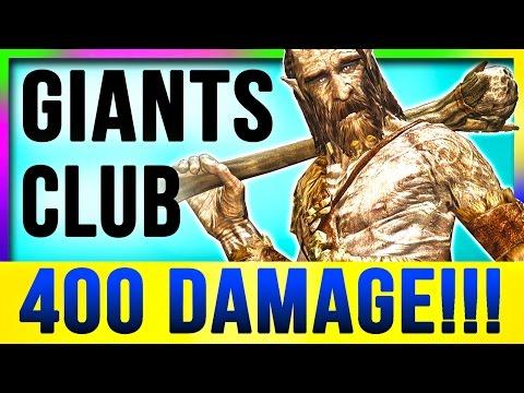 Skyrim Special Edition Best Weapon - Secret Hidden GIANTS CLUB Location (Strongest One Hit Kill)
