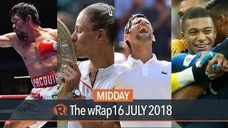 Sports wrap – Pacquiao-Matthysse, Wimbledon finals, World Cup