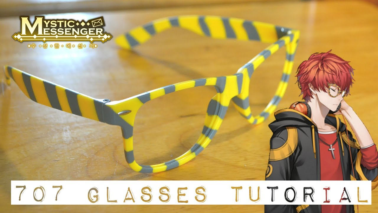 707 (Luciel Choi) Cosplay: Glasses Tutorial - YouTube