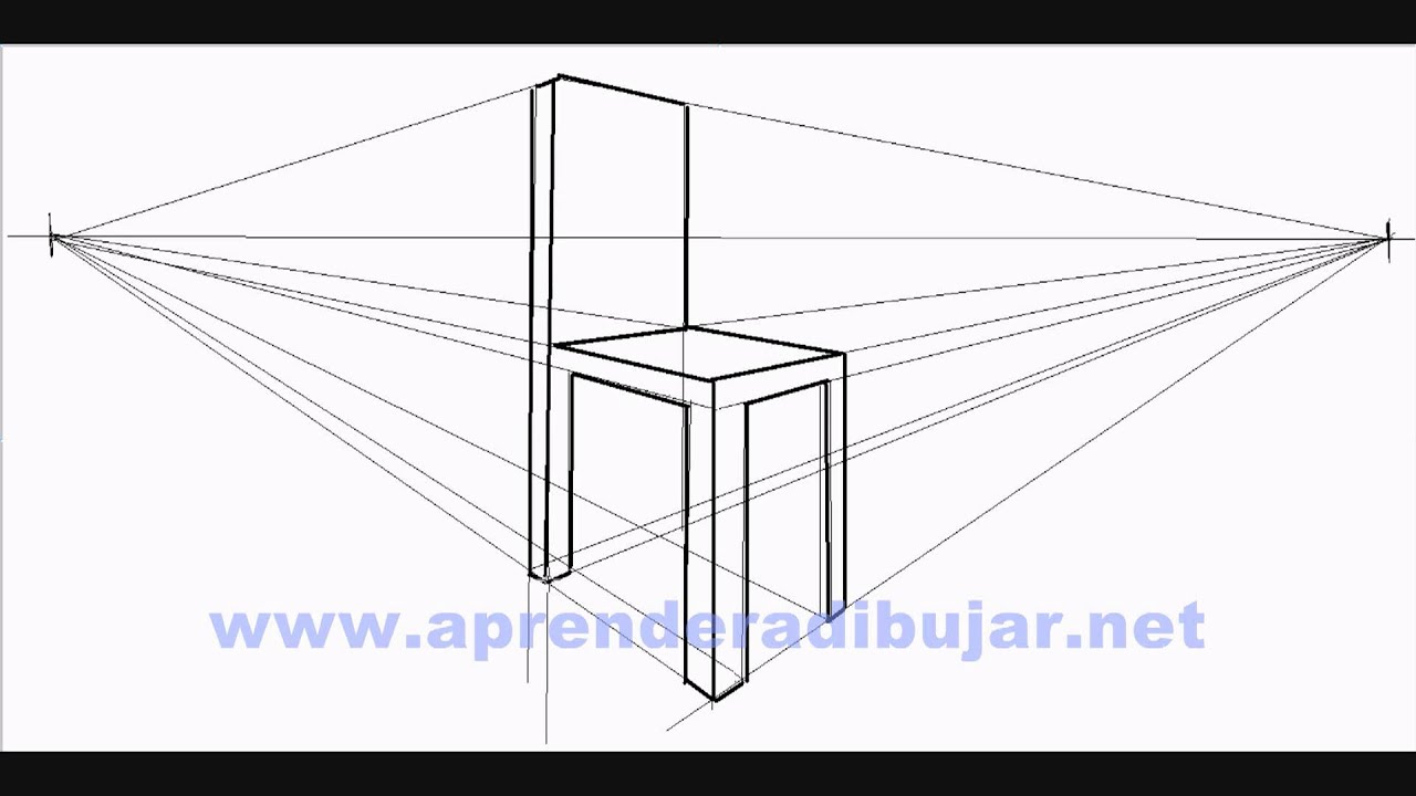 How to draw a chair in perspective - Things to Draw - YouTube