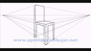 How to draw a chair in perspective - Things to Draw