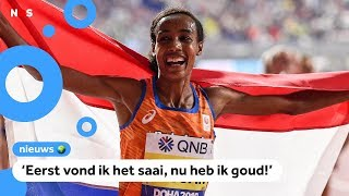 Sifan Hassan wint 10.000 meter op WK Atletiek
