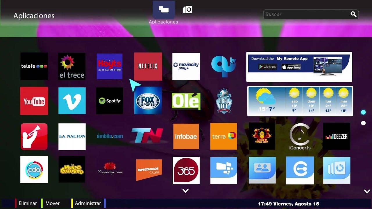 philips smart tv mejores aplicaciones locales e