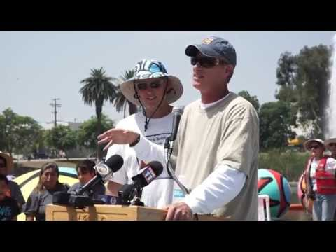 MacArthur Park Press Conference with Mayor Garcetti and the Massey Bros.