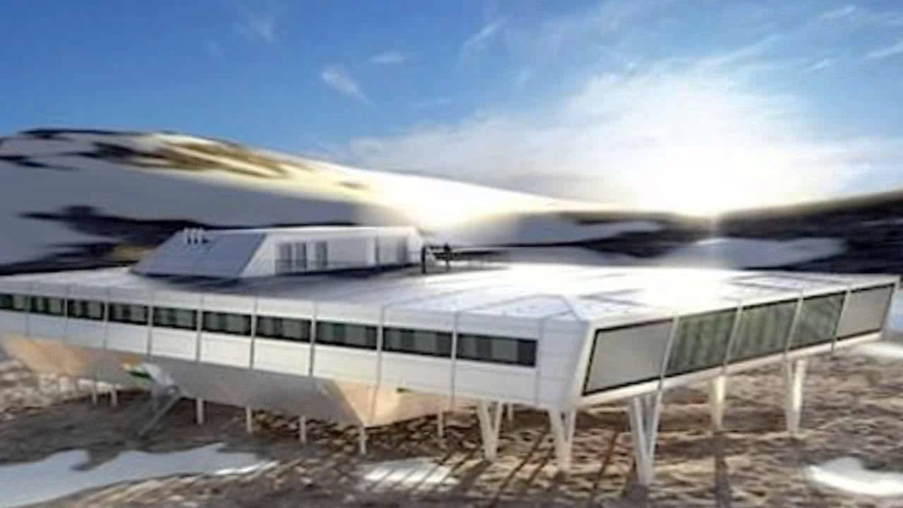 Shipping container architecture research - India S Bharathi Antarctic Research Station Is Made From 134 Prefab Containers Youtube