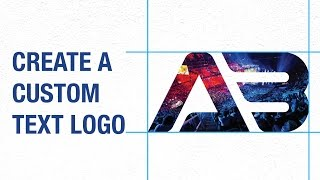 Create A Text Logo Using Guides (as Grid) and Clipping Mask in  Illustrator CC