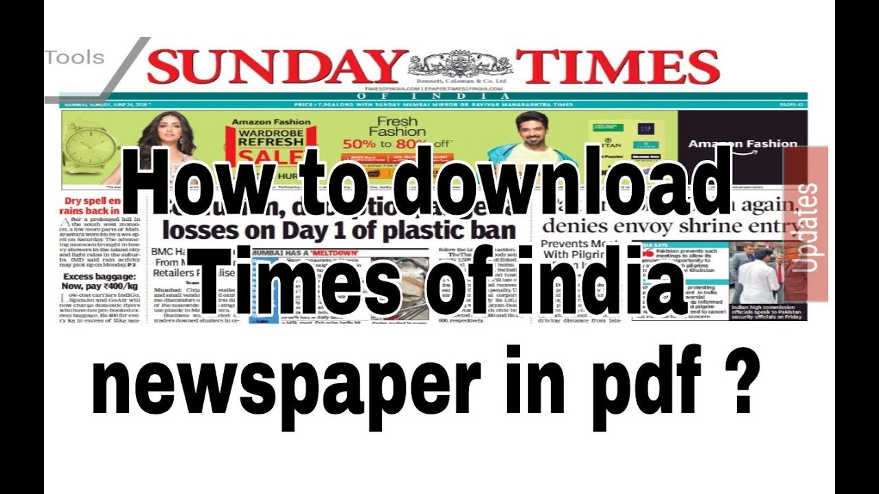 Chennai pdf epaper of times india