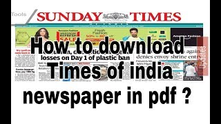 Times of india newspaper download pdf