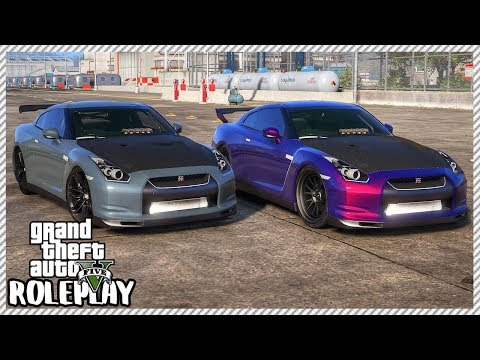 GTA 5 Roleplay - Drag Race Battle Nissan GTR R35 vs Nissan GTR R35 | RedlineRP #441