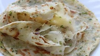 green onion pancake 蔥油餅/green onion paratha - soft layered-- Cooking A Dream