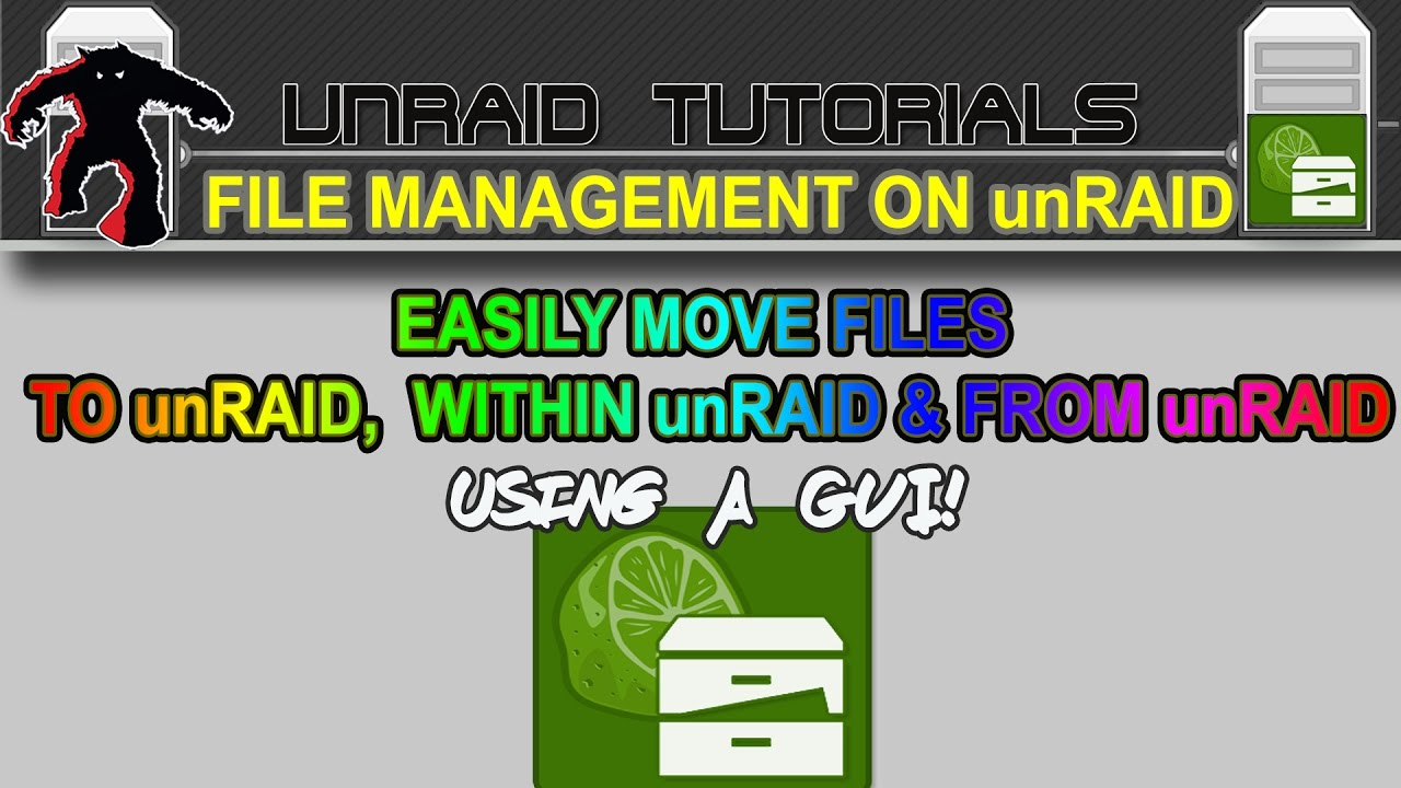 Easily move, copy and sync files to unRAID, within unRAID and from unRAID  using Krusader