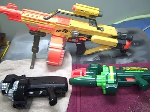 Modified Automatic Tommy 20 Amp Nerf Stampede Gun Review