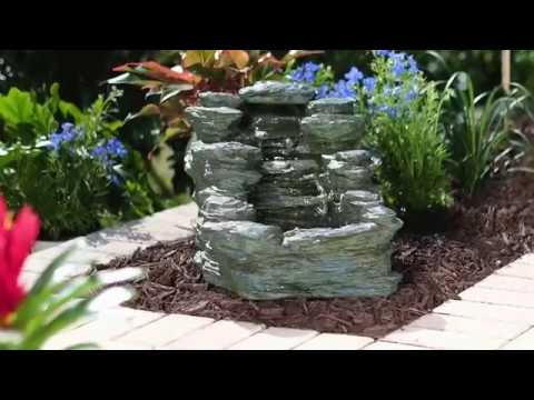 3 Tier Rock Fountain With Lights Improvements Catalog