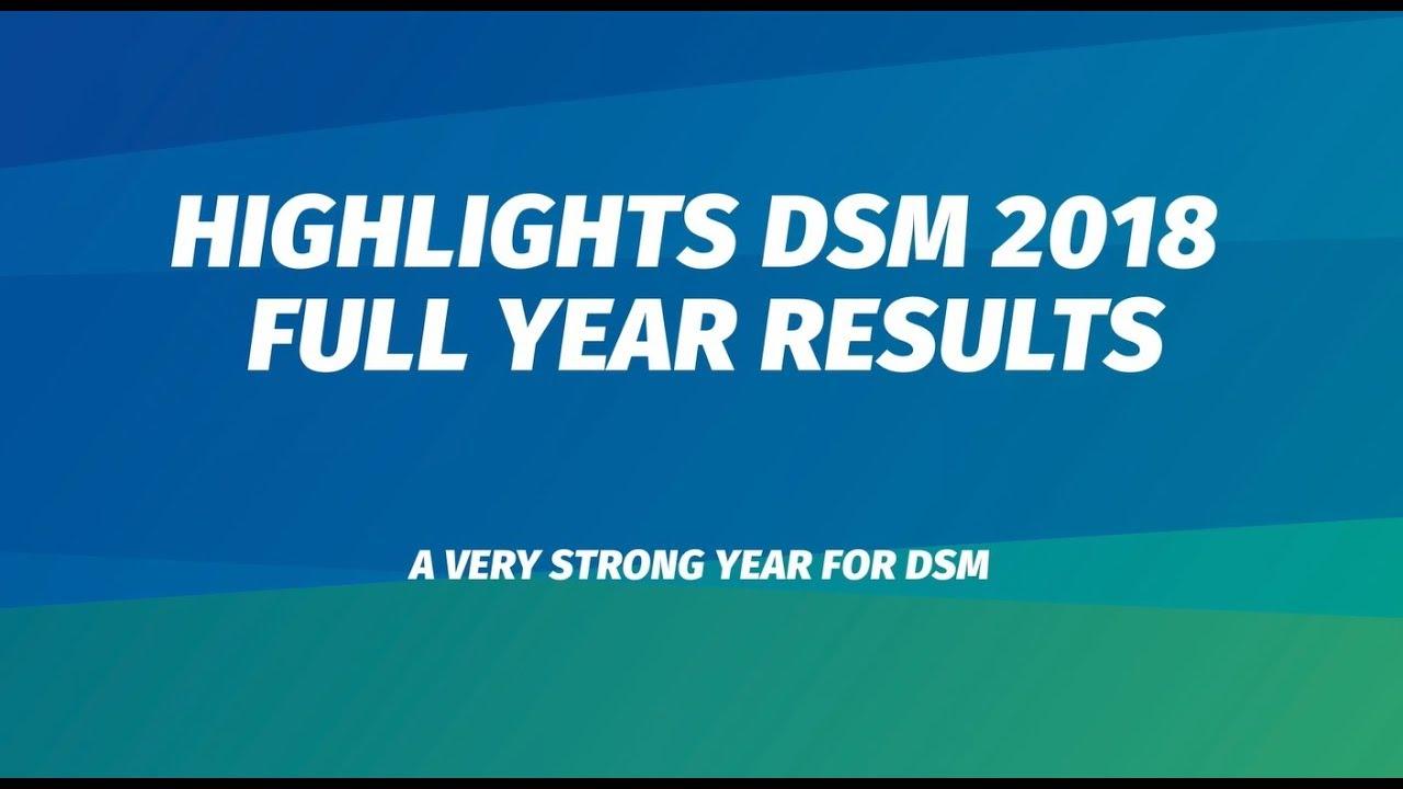 ecdcd47009 DSM reports 2018 results | DSM