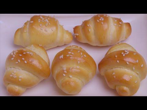 面粉不要蒸馒头了,试试这样做小面包,松软拉丝,比馒头好吃10倍