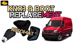 How to replace Shift Knob and Shift Boot Mercedes Sprinter Automat - Demontaż gałki i mieszka