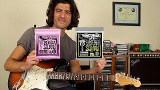 Guitar String Shootout 10's vs 10.5 - Ernie Ball Mega Slinky