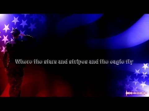 Where The Stars And Stripes And Eagle Fly - Aaron Tippin (Lyric Video)