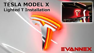 Rear Lighted T Installation for the Tesla Model X