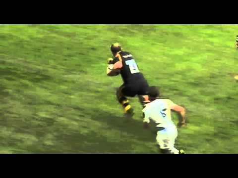 Joe Launchbury Try Wasps v Leinster Rugby