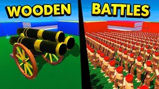 HUGE CANNON UNIT IN WOODEN BATTLES (Wooden Battles Simulator Funny Gameplay)