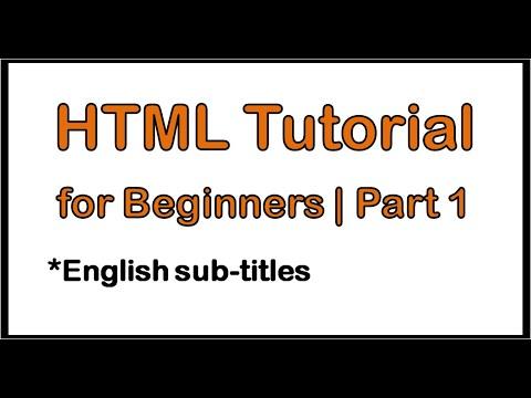 HTML Tutorial 1