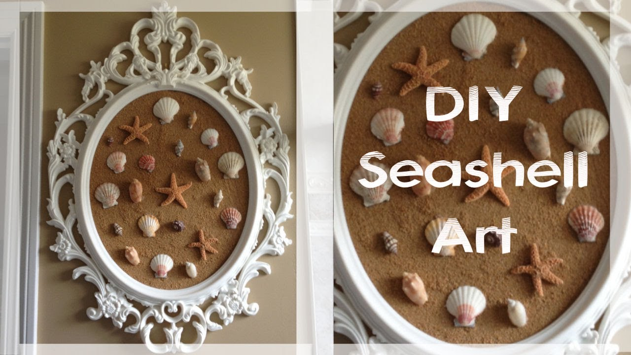 Diy Seashell Art Featuring The Ung Drill Frame Seen On Pretty