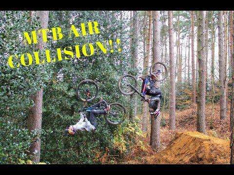 MTB AIR COLLISION!! **SO SCARY**