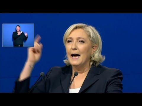 """Marine Le Pen: """"Le 7 mai, je vous appelle à faire barrage à la finance, à l'argent roi"""""""