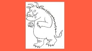 Gruffalo - How to draw Gruffalo from the Gruffalo Series