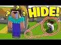 WORLD'S SMALLEST vs LARGEST PLAYER! (Minecraft Hide and Seek)