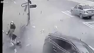 Two die as drunk driver causes terrible accident in Moscow   YouTube