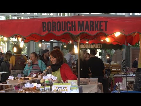London foods in the Borough Market, travel eating tips