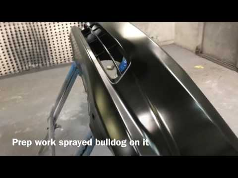 2012 Honda Civic Paint/Spraying Black Waterborne