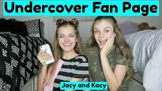 Going Undercover As A Fan Page ~ Jacy and Kacy