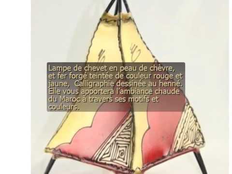 Lampe Marocaine En Peau Youtube