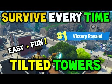 FORTNITE: How To SURVIVE TILTED TOWERS EVERY TIME! - Easy FUN Method for The Average Player 10+KILLS