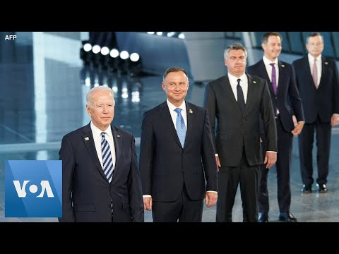 NATO Leaders Pose for Family Photo in Brussels