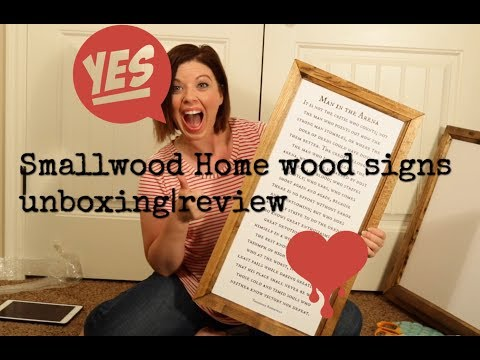 Farmhouse signs from Smallwood UNBOXING | REVIEW