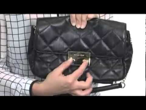 f1b4d8b2d363 MICHAEL Michael Kors Sloan Large Quilted Shoulder Flap SKU  8126525 ...