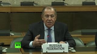 Пресс-подход Лаврова по итогам переговоров по Сирии