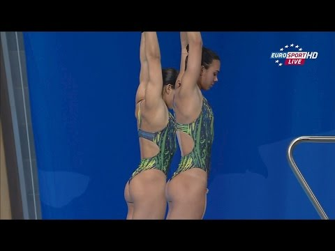 Kazan2015 Ingrid Oliveira & Giovanna Pedroso (10m synchro prelim)