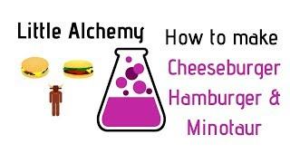 Little Alchemy-How To Make Cheeseburger, Hamburger & Minotaur Cheats & Hints