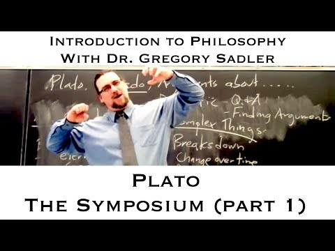 Platos dialogue, the Symposium part 1  Introduction to Philosophy