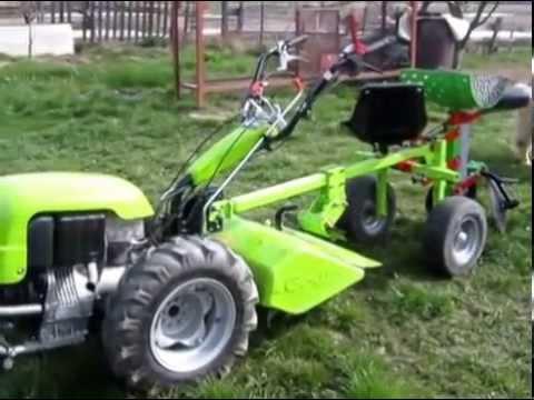 MOTOKULTIVATOR GRILLO 107D - sajenje krompirja