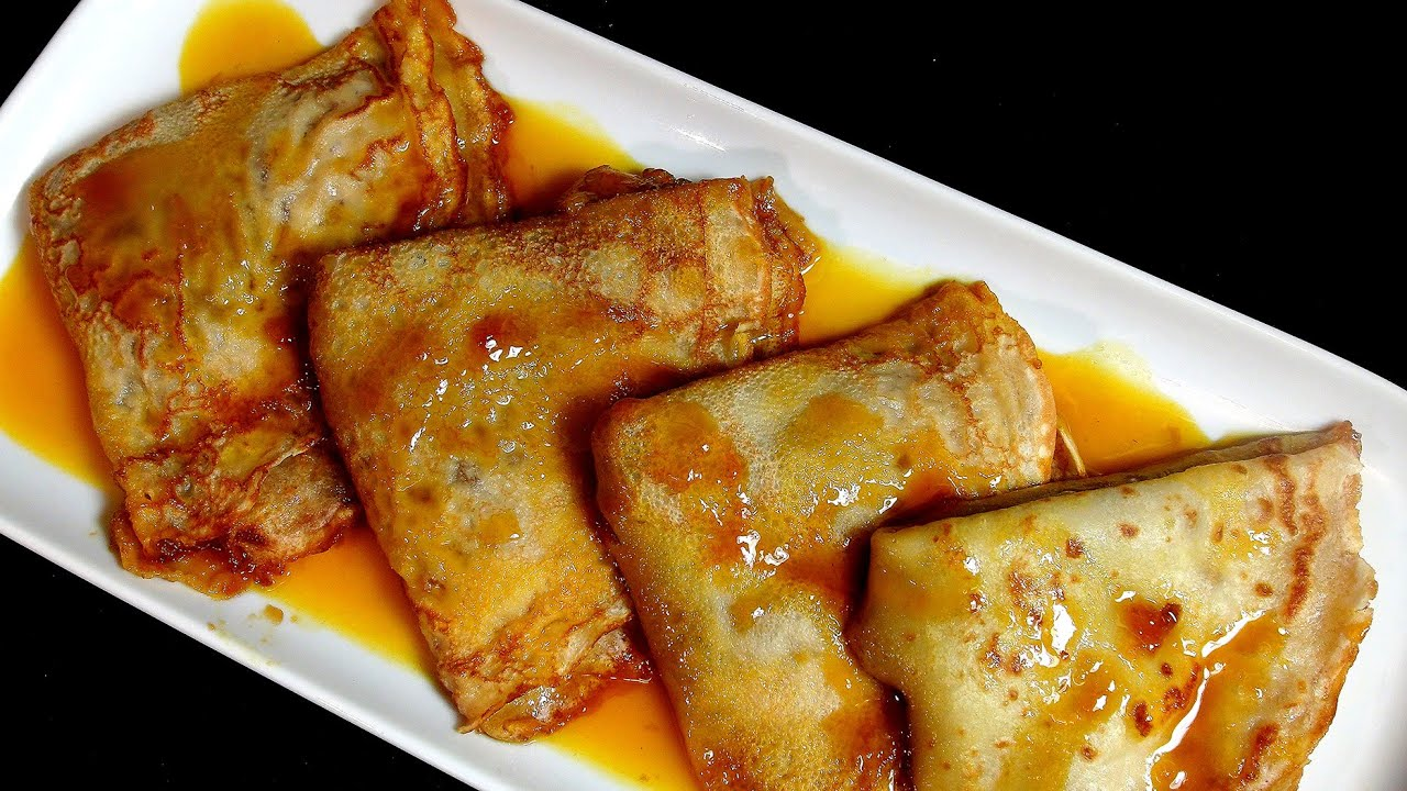Crepes de manzana sobre salsa de naranja receta de for Salsa para crepes