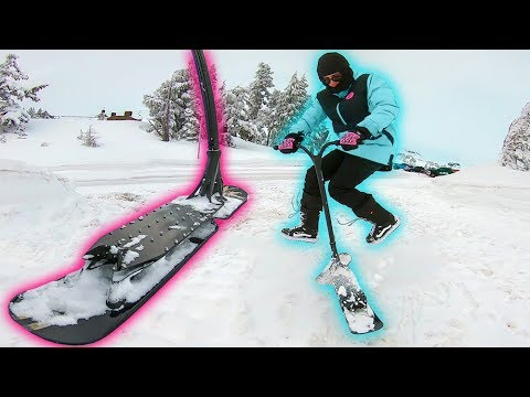 TESTING SNOW SCOOTER FOR FIRST TIME!