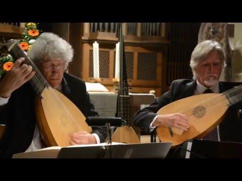 Beautiful Lute Duet by Jean-Marie Poirie & Thierry Meunier: Le Berceau(Pierre Dubut)